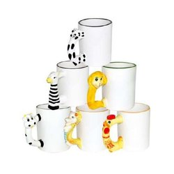 Skymy Ceramic Cartoon Handle Mugs, Capacity: 100-300 Ml