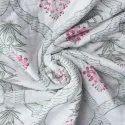 Cotton White Base Hand Block Print Jaipuri Quilt