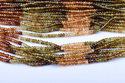 13 Inch Strand 3-3.5MM Natural Petrol Tourmaline Faceted Rondelle Beads