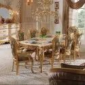 Acme Golden Gold Leaf 8 Seater Dining Table, Size/dimension: 7x4, For Home