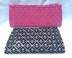 Sequin Embroidery  Party Hand Clutch