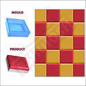 Square Moulds - (200 x 200mm) 60mm - 606b - Sand