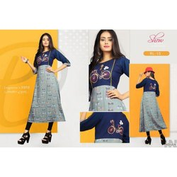 Party Wear Anarkali Rayon Kurti