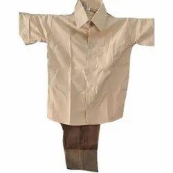 Boys Govt School Cotton Uniform, Size: 22-42