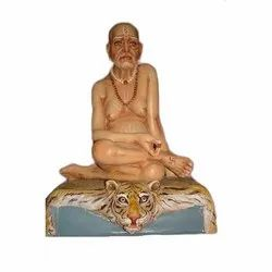 Wooden and Fiber Hindu Statue