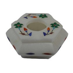 White Marble Gemstone Ashtray