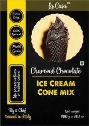 La Casa Powder Charcoal Ice Cream Cone Mix