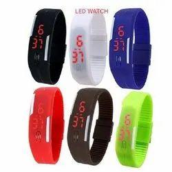 Rectangular LED Digital Smart Watch, Features: Water Resistant