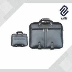 Leatherette Black Laptop Bag