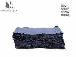Handmade Paper, Fine-Cut, A4 Size  - Navy Blue