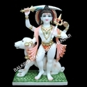 Color Coated Marble Statue, For Temple