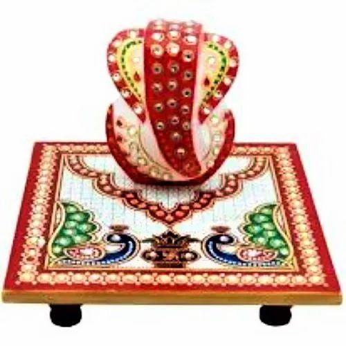 Marble Handmade Choki Ganesh