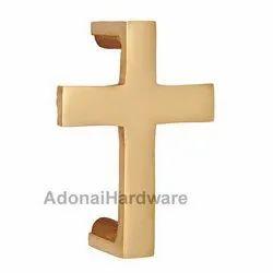Cross Brass Door Pull