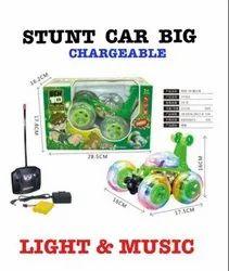 Plastic Green Stunt Car Toy Big Size