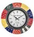 Decorative Wooden Analog Wall Clock - 12 inch
