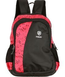 Black and Pink Pencil Pouch Backpack