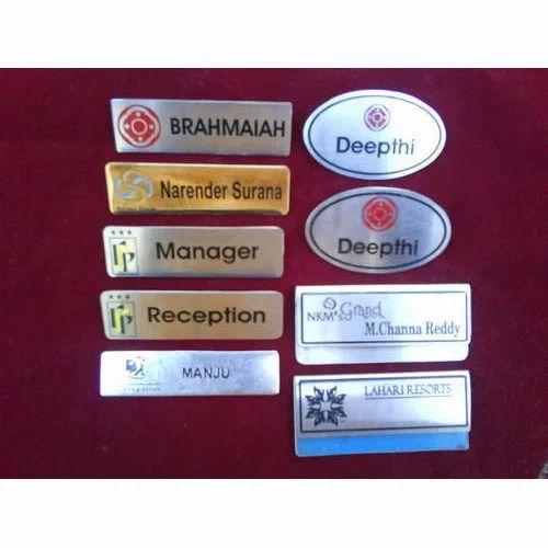 Etching Name Badges