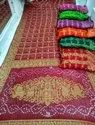 Bandhej Art Gharchola Saree also with fancy saded