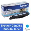 TN223C Brother Genuine Standard Yield Cyan Toner Cartridge
