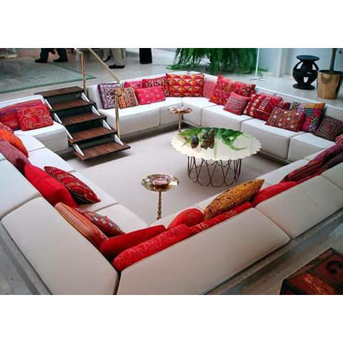 Cream Floor Level Sofa Set
