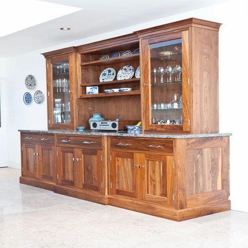 Wooden Crockery Almirah at Rs 18000 piece Wooden Crockery Unit