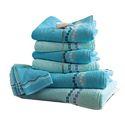 Cotton Printed Jacquard Bath Towel