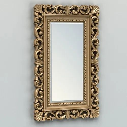 Decorative Rectangular Wall Mirror Thickness 3mm Packaging Type Cardboard Box Rs 260 Piece Id 20533885412