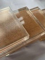 Multicolor Mesh Laminated Glass, For partitions, Thickness: 8mm To 20mm