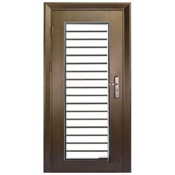 Brown Mild Steel Safety Door