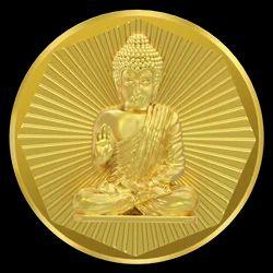 B - Gautam Buddha Panchdhatu Coin