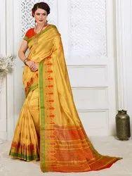 Designer Cotton Silk Weaving Saree With Blouse Piece
