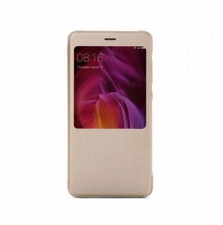 wholesale dealer 47b3a 740ac Redmi Note 4 Smart View Gold Flip Case - Themanz, Surat | ID ...