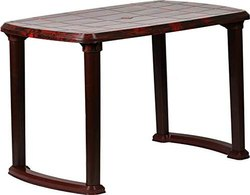 Brown Cello Plastic Dining Table, Warranty: 1 Year