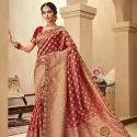 Jacquard Silk Embroidered Saree