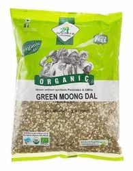 Patanjali Yellow Moong Dal, Green, Split With Shell, Organic, Gluten Free, Packaging Size: 1000kg