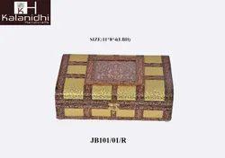 KALANIDHI HANDICRAFTS Browen & Golden DECORATIVE JEWELRY BOXES, Size: 11*8*4