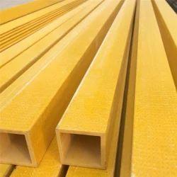 Yellow FRP Square Tube