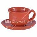 Terracotta Cup & Saucer