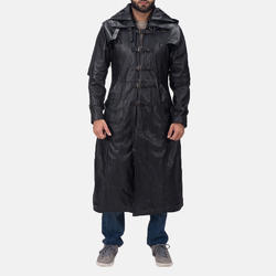 Men Genuine Lambskin Pure Leather Trench Coat
