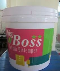 Big Boss High Gloss Acrylic Washable Distemperr, Packaging Type: Bucket