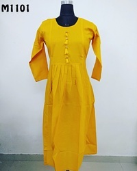 Cotton Flex Long Anarkali Kurti