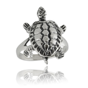 Silver Movable Turtle Ring