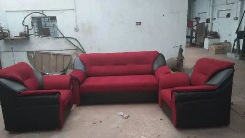 Modern Red Sectional Sofa Set, For Home And Hotel, Size ...