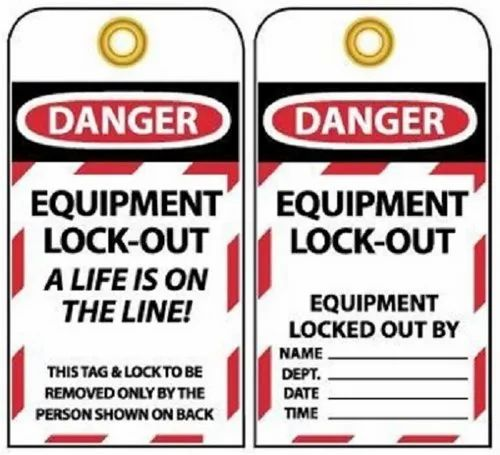 Red & White Lockout Tag