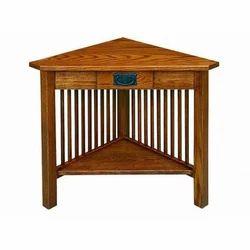 Wooden Rectangular Corner Table