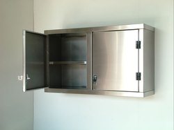 Global International Brushed STAINLESS STEEL WALL MOUNTED CUPBOARDS, 2