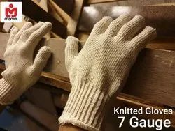 Cotton Hand Knitted Gloves