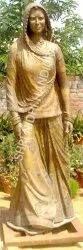 Standing Lady Metal Statue