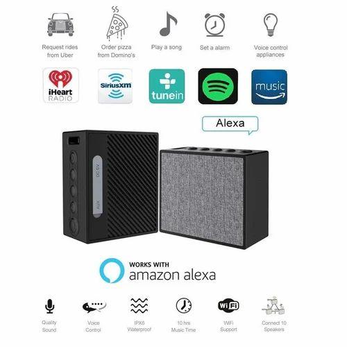 Alexa Bluetooth Speaker >> Black Opta Bs003 Wireless Smart Speakers Work With Amazon Alexa Wifi