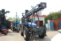 Tractor Mounted Drilling Rigs for Solar Project